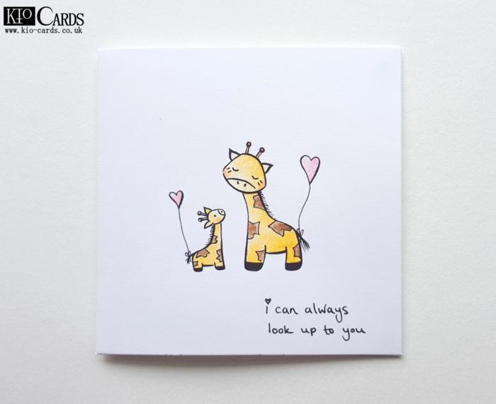 Giraffes enfant et mere dessin pour la fête des mères, image fete des meres simple a copier