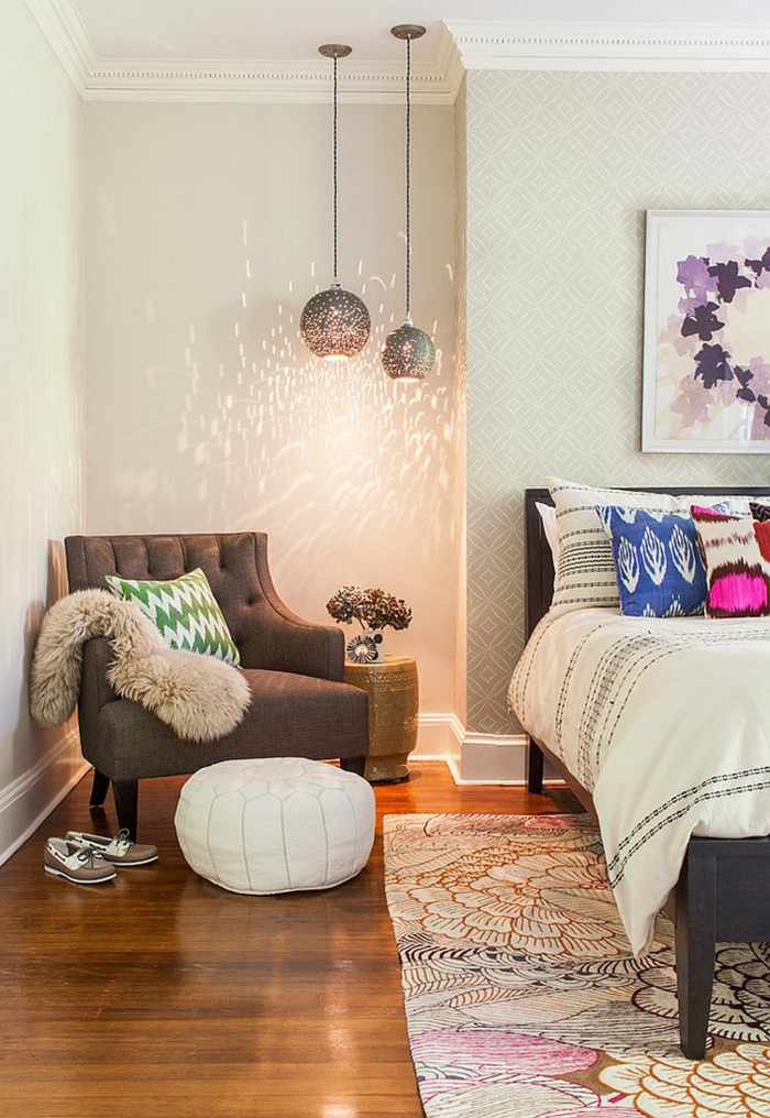 Idée pour la chambre à coucher aménagement petit studio, comment bien aménager un petit espace