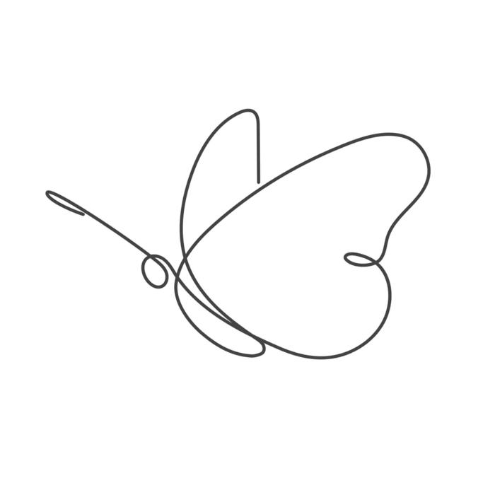 Une ligne dessin comment faire un papillon dessin couleur, dessin facile a faire en une seule ligne