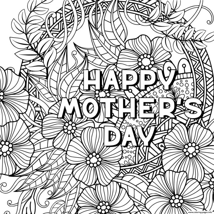 Coloriage pour la fete des meres qui dit joyeux fete maman, coloriage bonne fete maman, idée carte fête des mères maternelle bricolage