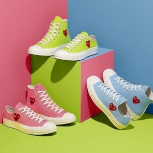Les Converse x Comme des Garçons Play se parent de couleurs printannières