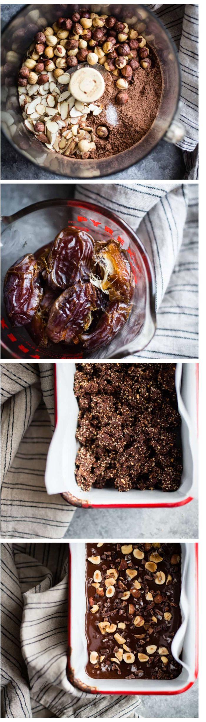 recette pour faire brownies maison, idee gateau sans cuisson simple, bronwies aux noix et dattes a faire soi meme