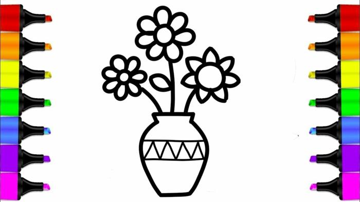 Le plus simple coloriage pour enfant image fete des meres, dessin pour la fête des mères idée cadeau
