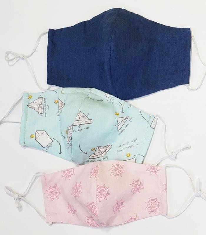 modèles de masque de protection en tissu avec élastiques à réaliser soi-même, exemple de masque coronavirus avec poche