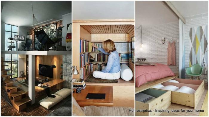 Trois idées pour gagner de place, amenagement studio 15m2 ikea, aménagement appartement simple