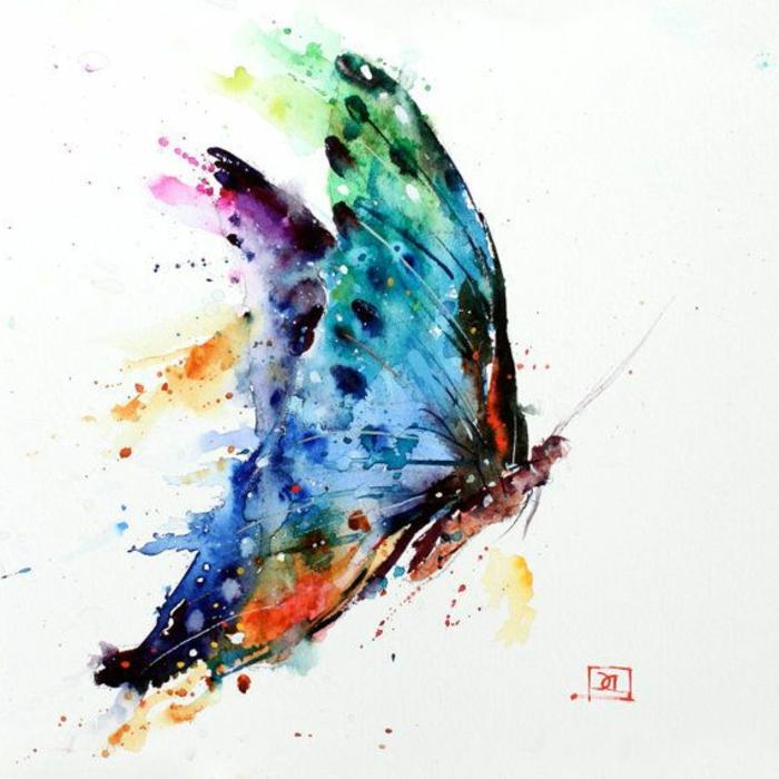 La beauté des papillons, dessin papillon, dessin mignon, inspiration comment dessiner couleurs