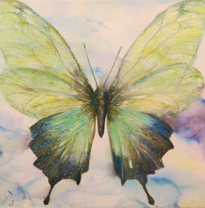 Aquarelle papillon dessin facile, inspiration dessin facile a reproduire par etape
