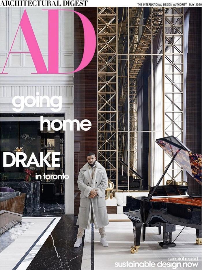 Le magazine AD présente la nouvelle maison de Drake à la superficie et au luxe hors du commun