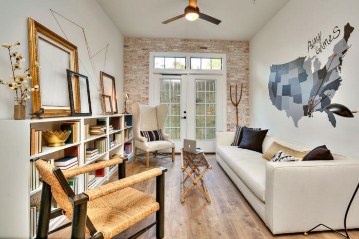 Carte d'Amerique peinture murale comment aménager son appartement pour se sentir bien dedans confinement