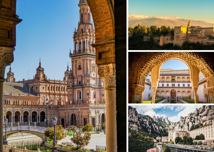 quels sites visiter en Espagne, le palais et les jardins d'Alhambra de Grenade