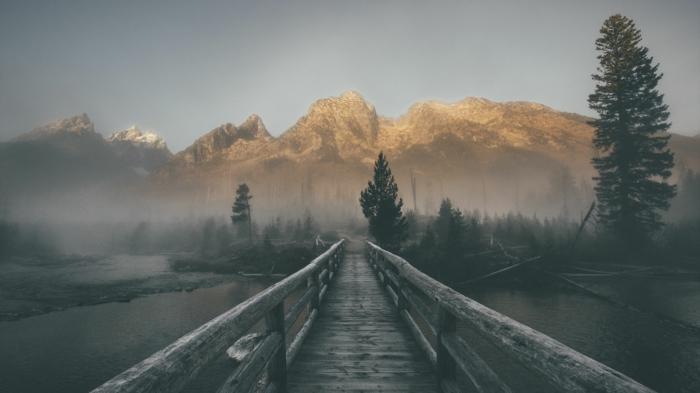Montagne route pont fond d'écran été, fond d'écran pc quel motif pour le pc stylé