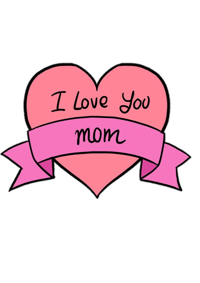 Coeur je t'aime maman activité fête des mères, dessin fete des mere a offrir comme cadeau a sa maman