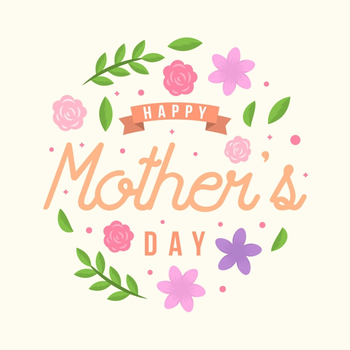 La journée de la mère fleurie tuto dessin pour enfant, idée de cadeau simple images fête des mères
