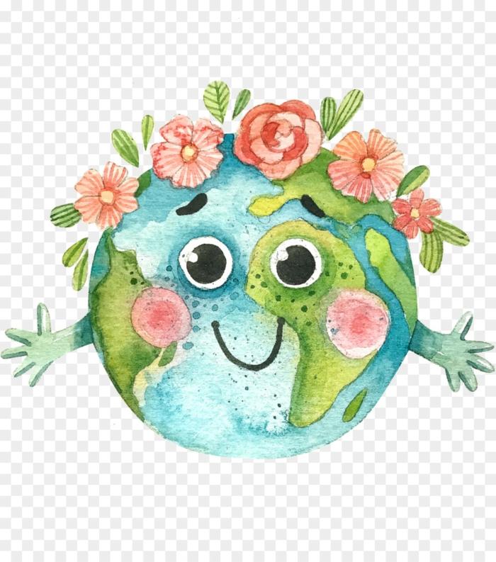 Une embrasse de la terre loisir créatif carte de voeux pour la fête des mères a faire soi meme