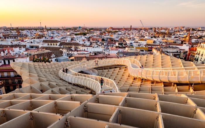 que voir à Séville, visiter les structures en bois du Metropol Parasol à Séville