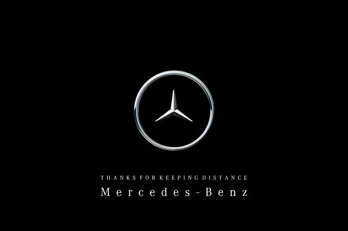 Mercedes-Benz modifie son logo en raccourcissant son étoile afin d illustrer la distanciation sociale
