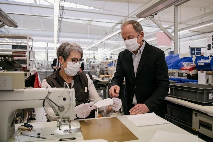 La marque du groupe LVMH réoriente son activité vers la fabrication de masques type 2