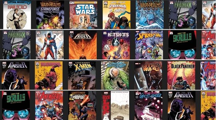 Découvrez l'ofre chonologique Marvel Comics avec un accès gratuit à certains titres jusqu'au 4 mai