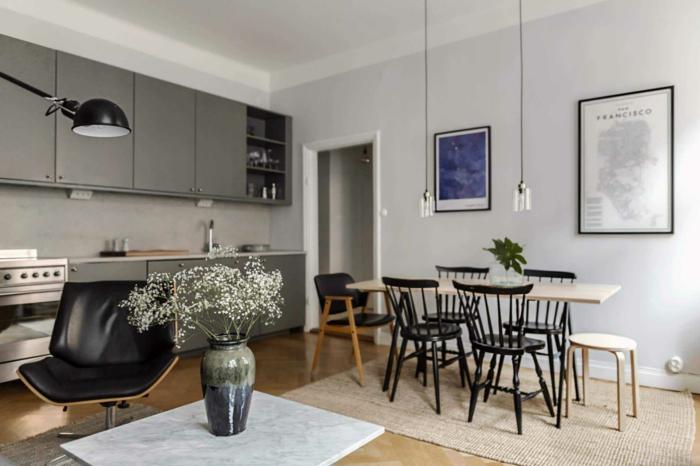 Décorer la cuisine grise idée déco studio, aménagement petit studio bien décoré 2020