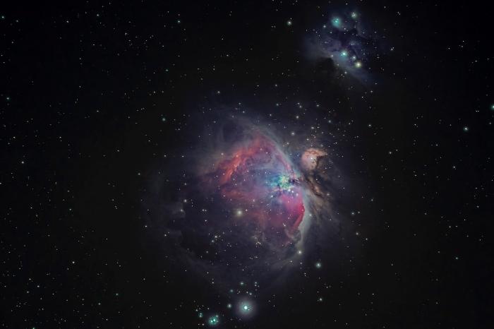 fond d écran art pour personnaliser l'écran de son ordinateur, image galaxie pour PC noire avec étoiles étincelantes