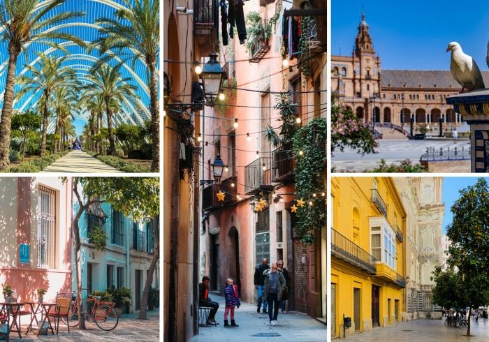 explorer les villes d'Espagne, découvrir la beauté de architecture de l'Espagne