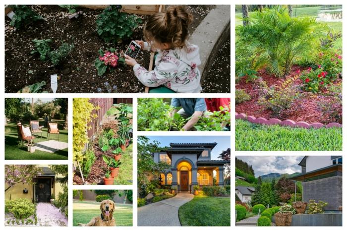 Planter des fleurs et des plantes vertes, idée comment paysager son jardin, préparer son espace extérieur pour l'été