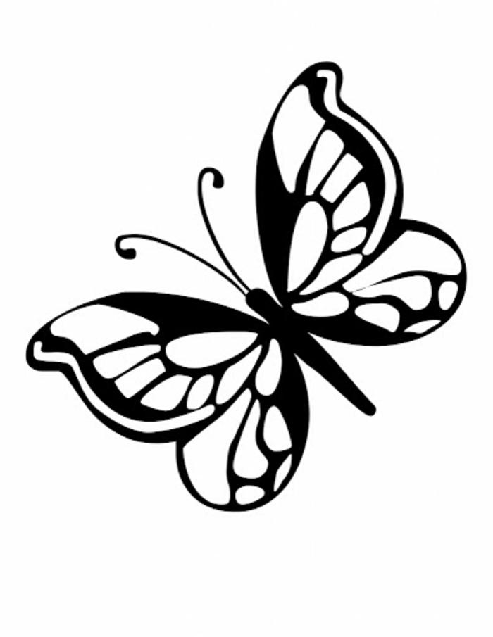 Inspiration simple dessin papillon, dessin mignon, inspiration comment dessiner