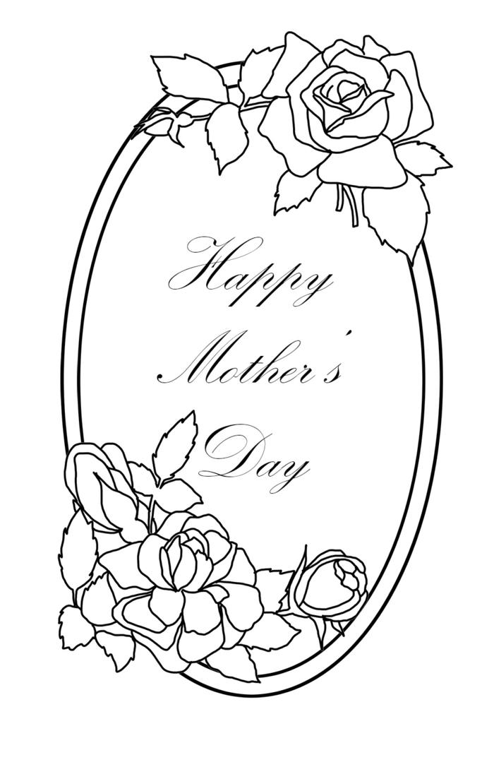 Miroir dessin pour la fête des mères, inspiration dessin pour maman
