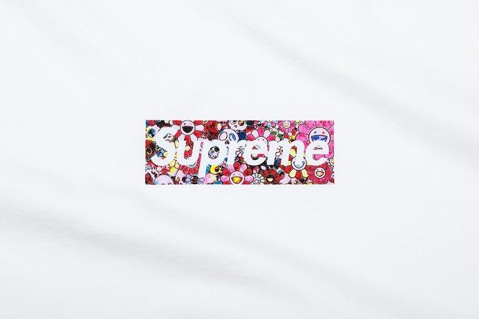 Takashi Murakami signe le nouveau logo charity box de Supreme pour un tee-shirt vendu au profit d'une association américaine
