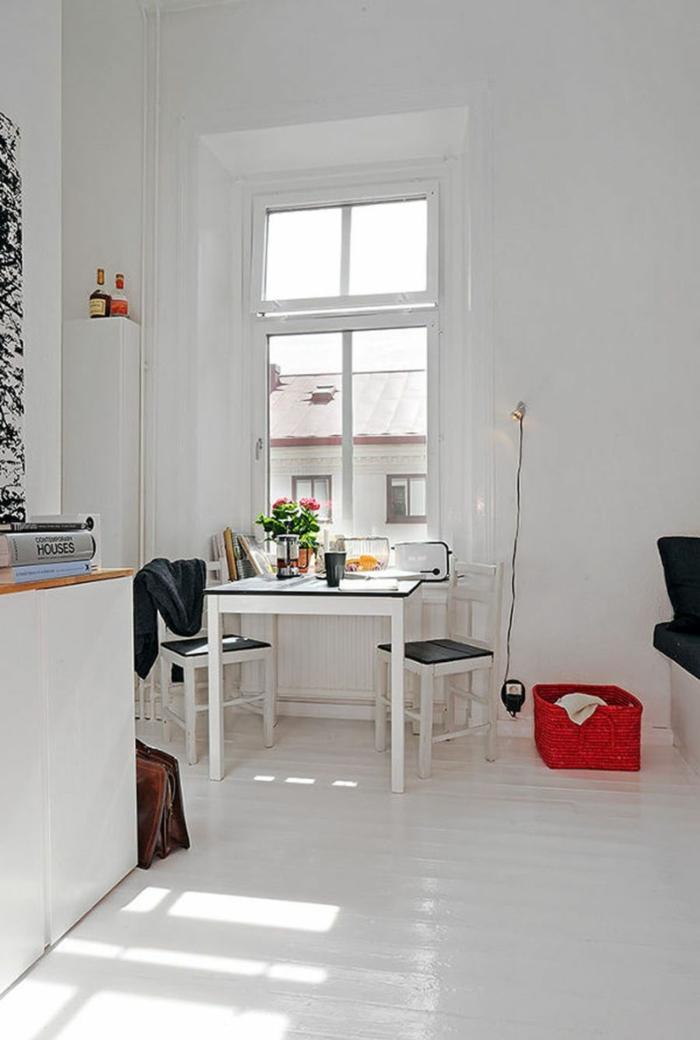 Blanc mur deco appartement, comment décorer un studio style scandinave épuré