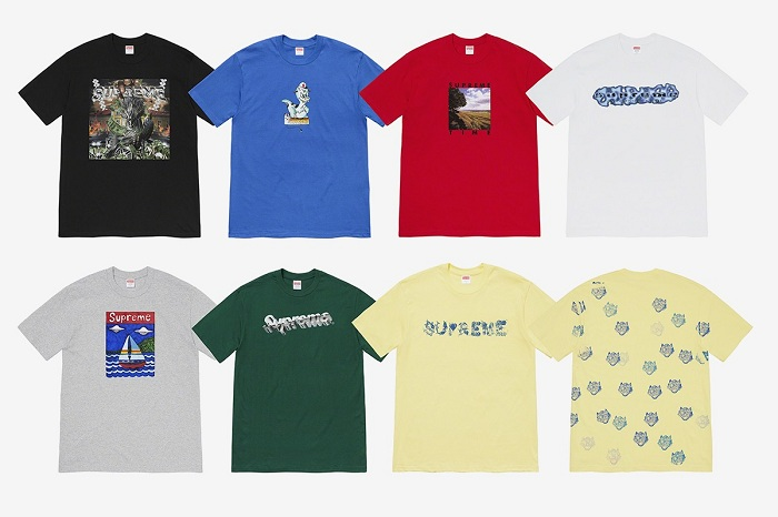 Retrouvez la collection de t shirts Supreme Spring 2020 sur le site de la marque à partir du 16 avril