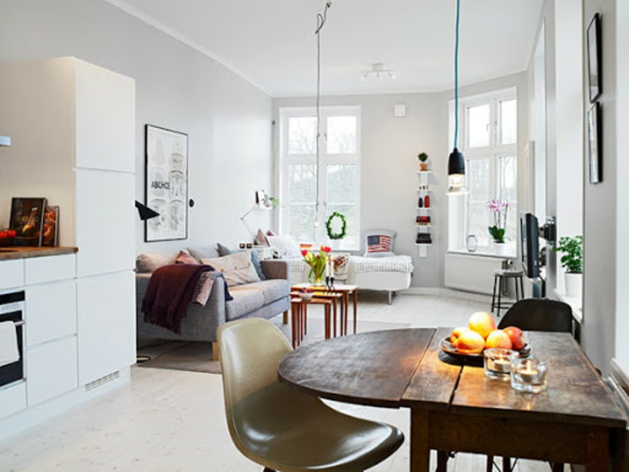 Petit coin à manger idée déco appartement, amenagement petit espace à décorer pour soi