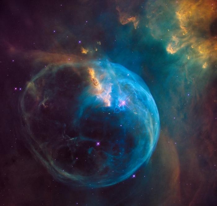idée image de phénomène lumineux comment wallpaper, exemple de photo fond d écran avec nébuleuse en bleu et vert