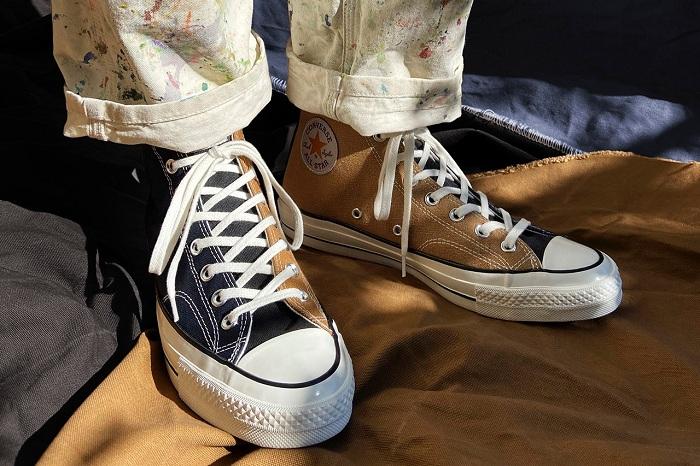 Carhartt x Converse, le duo lance une nouvelle paire de All Star Chuck 70 en tissu recyclé