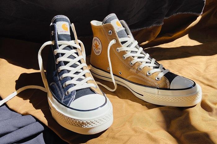 Découvrez la nouvelle sneakers Converse Chuck 70 Renew en tissu Carhartt recyclé