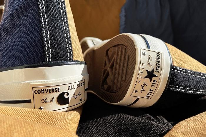 Carhartt x Converse s'associent de nouveau pour créer une paire de Chuck 70 Renew en tissu vintage recyclé