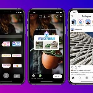 """Instagram lance le sticker """"Aidons nos commerces"""" pour mettre en lumière les entreprises de proximité"""