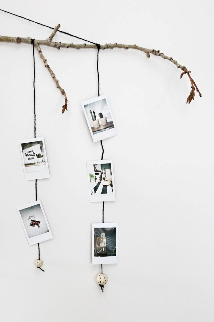 DIY déco murale chambre ado à réaliser soi-même, idée comment décorer les murs avec une suspension à photos personnelles