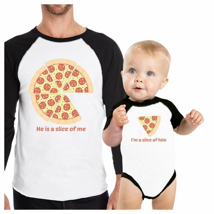 Pizza petit et grand idee cadeau fete des peres, originale idée de cadeau simple a faire