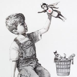 Banksy rend hommage aux soignants avec sa nouvelle oeuvre Game Changer