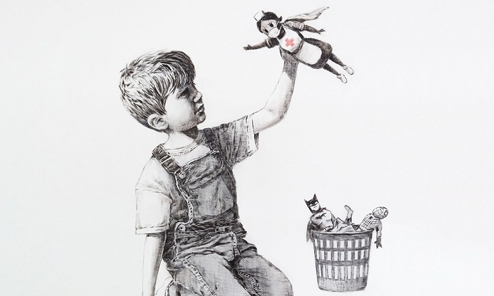Banksy rend hommage aux soignants britanniques dans une nouvelle œuvre — Coronavirus