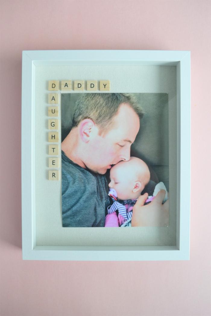 Père et sa princesse cadre photo avec lettres mots qui commencent avec le meme lettre belle photo amour famille
