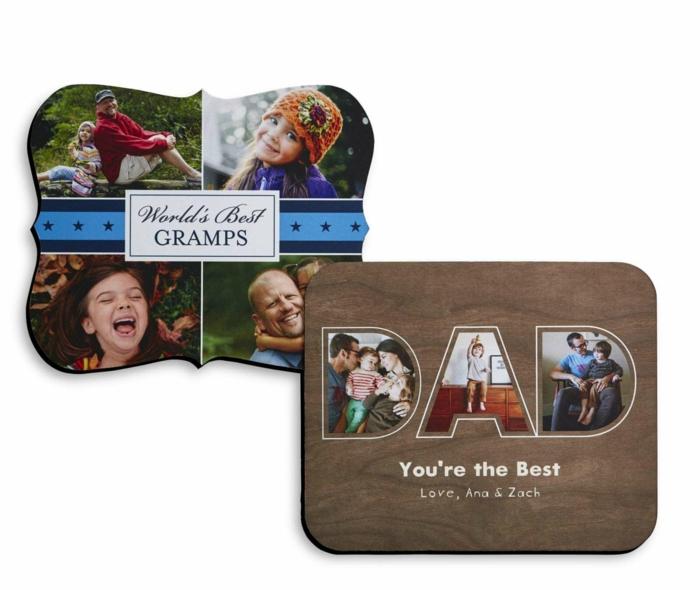 Imprimer des photos et faites un collage comme cadeau fête des pères à fabriquer 2 ans, cool idée que offrir a papa