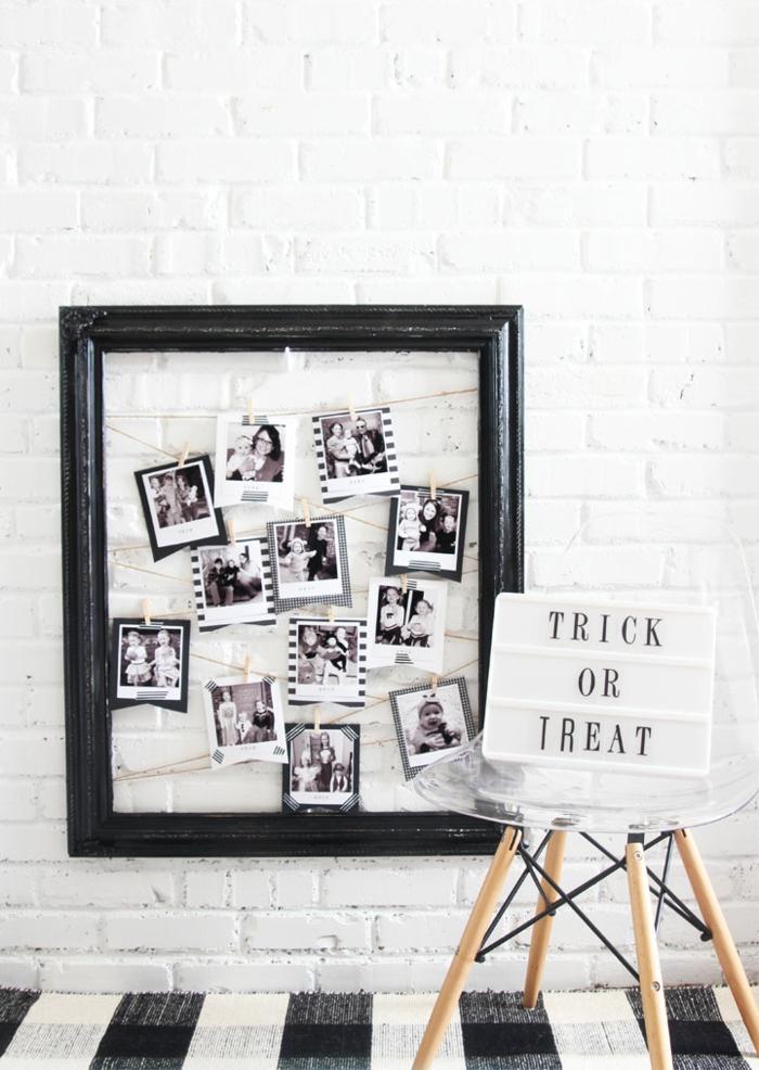 Cadre avec corde pour accrocher ses photos inspiration photo chambre, porte photo originale idée cadre multi photo