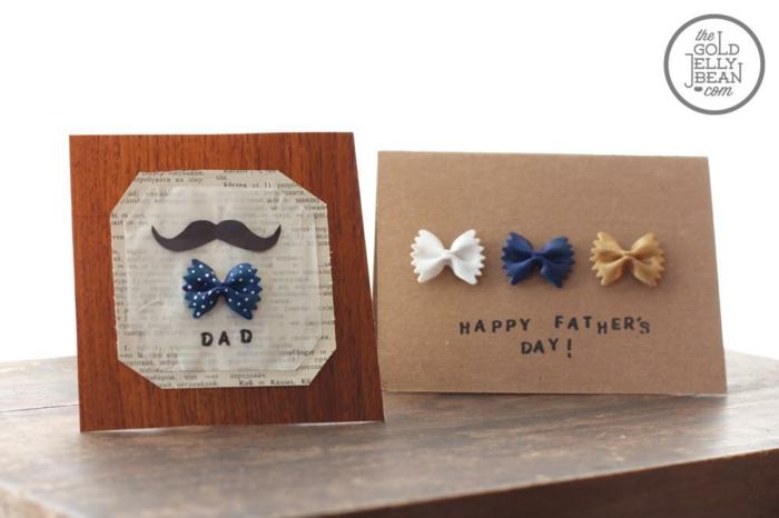 Faire une carte de voeux avec papillon de macarons activité manuelle fete des peres, idee cadeau fete des peres,
