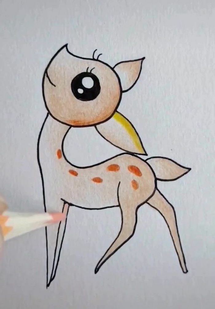 Adorable animal dessin facile a faire etape par etape, dessin facile a reproduire simple