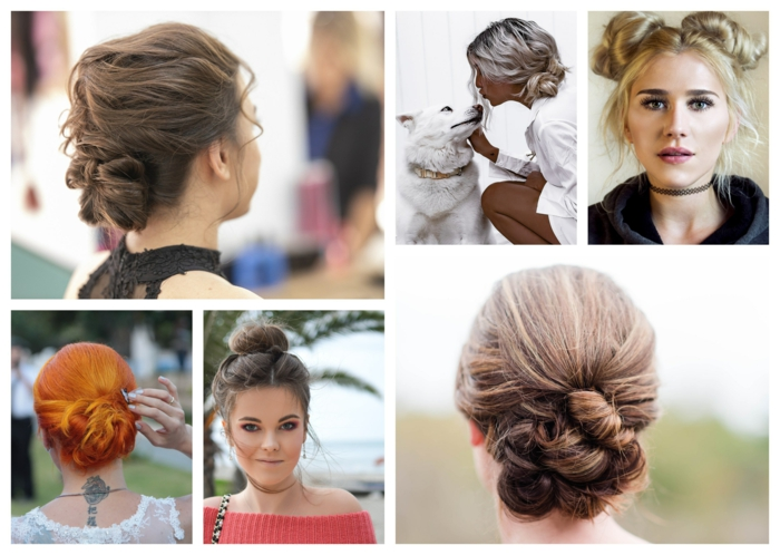 Belle coiffure chignon bas, idée comment se coiffer pour un mariage au style bohème chic