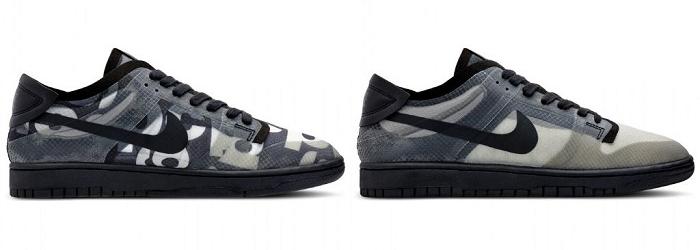 La sneaker COMME des GARÇONS x Nike Dunk Low aperçue à la fashion week de Paris arrive ce 14 mai