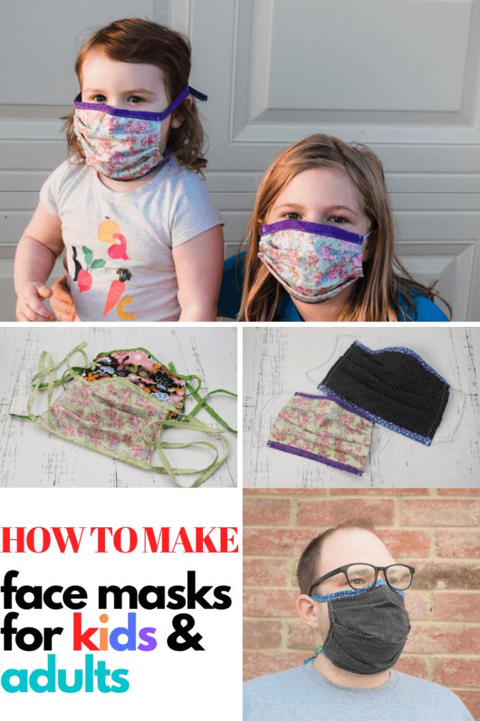 diy technique pour confectionner un masque maison visage facile, utilisation de coton 100% pour fabriquer un masque coronavirus