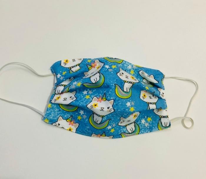 comment faire un masque pour petit en tissu coton, DIY modèle de masque confort de respiration pour petits enfants